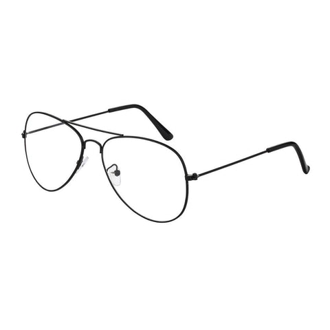 Metal Frame Sunglasses Classic Clear Lens