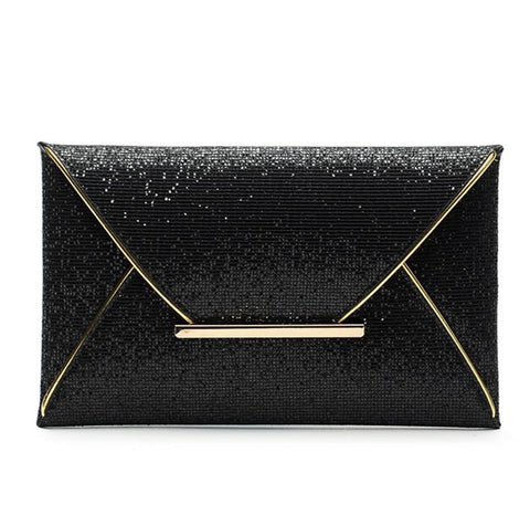 luxury shiny hand bags big envelope clutch bag glitter