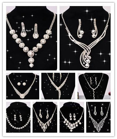 Classic Crystal Rhinestone Necklace Bride Acessory Free Shipping
