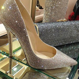 Diamond Thin Heels Wedding Shoes