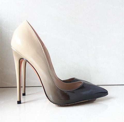 heels patent leather women pumps pointed toe sexy ladies stiletto