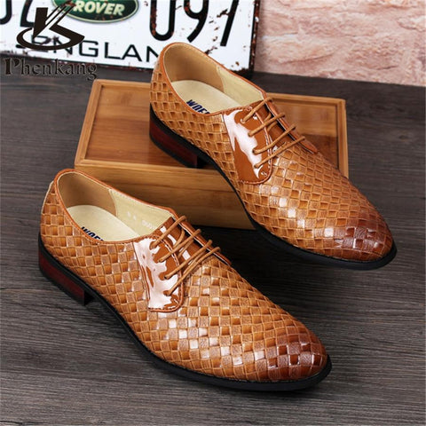 2018 new men business suits men leather shoe