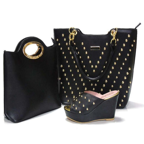 Matching Bags High Quality  Women Wedding Shoe and Bag Sets