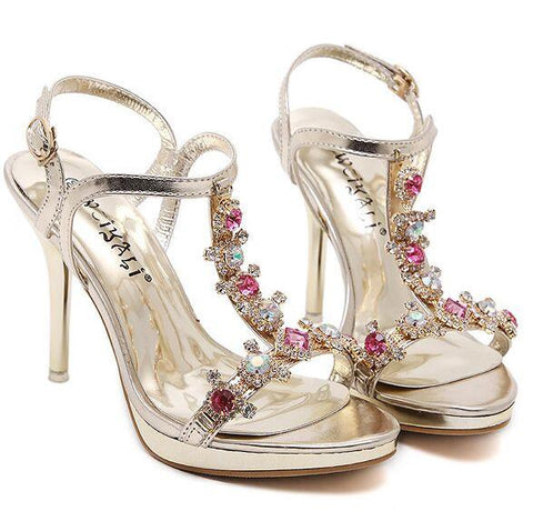 Golden Wedding Shoes High Heels