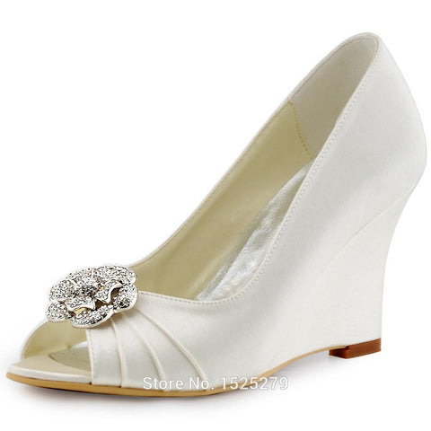 Flower Clips detachable Crystal Women Wedding Bridal Shoes
