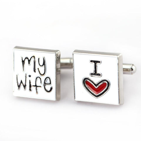 Exquisite Cuff Links I Love My Wife Gift Wedding Groom