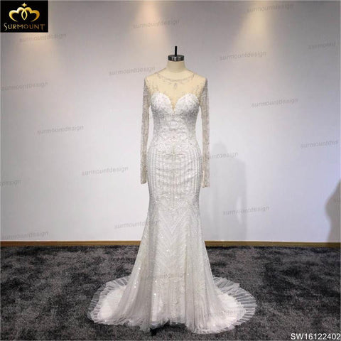 Ivory Floor Length Off White Wedding Evening Dresses