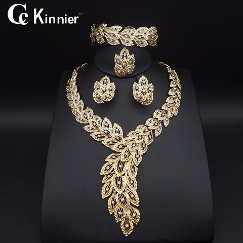 Fashion jewelry set African Nigeria Dubai gold-color African bead