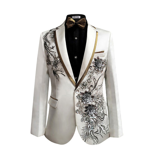 Cloudstyle 2018 Men Suits (jacket+pants) New Fashion Wedding Sequins