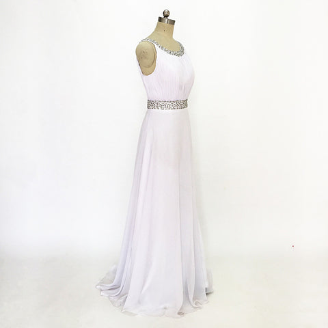 White A-line Bridesmaid Dress Chiffon Bridesmaid Formal Customized Dresses