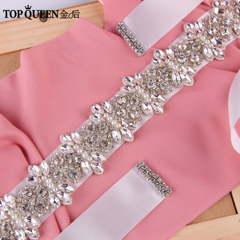 FREE SHIPPING Rhinestones Pearls Wedding Belts .