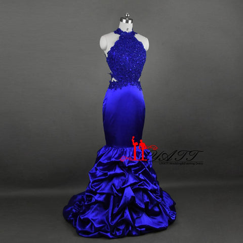 2017 Real Photo Evening Prom Dresses Royal Blue (Rental $280)