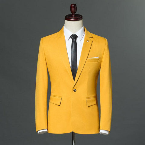 2018 Slim Fit Blazers Fashion Casual Suit Jacket Men Wedding Single Button Party Dress Jacket M-5XL