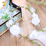 White Veil Fabric Bridal Headpiece Hairbands Wedding Hair Accessories Flower Crown Women Headbands