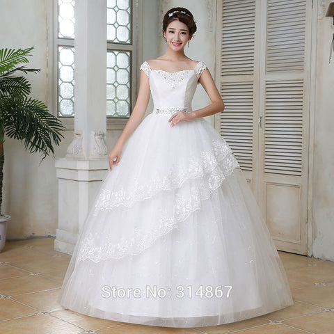 wedding dress plus size lace up dresses