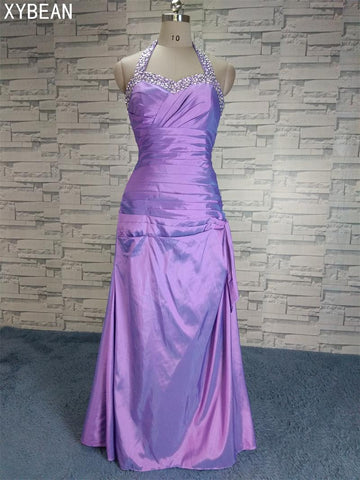 2018 New Arrival Purple Beaded prom dress and Free Shipping
