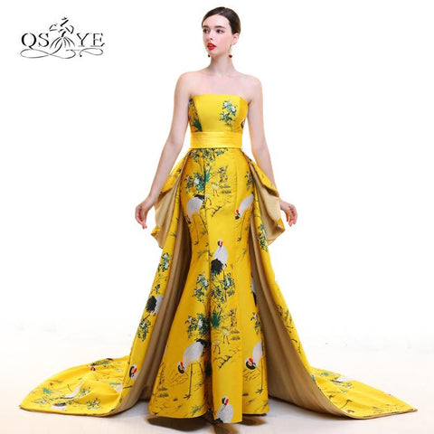 2018 New Arrival 3D Floral Print Long Evening Prom Dresses