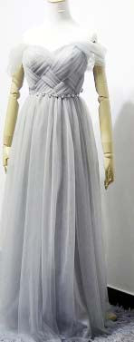 princess style lavender long gray bridesmaid dress floor length bridemaids bridal tulle gowns dresses