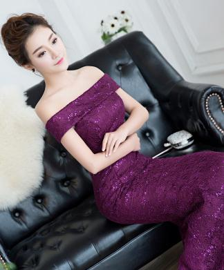 formal red boat neck mermaid style long simple elegant black lace bridesmaids floor length dress ivory