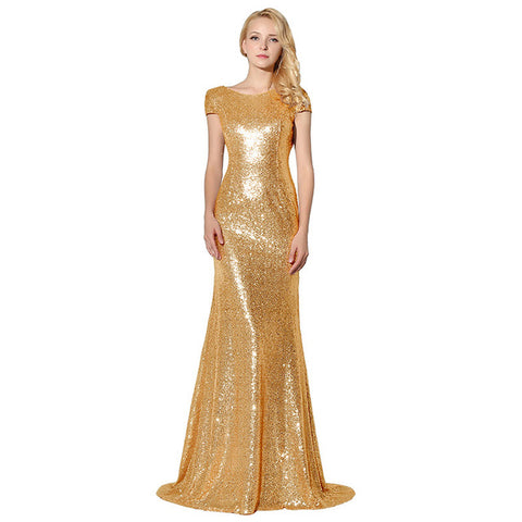 Plus Size Rose Gold Shining Sequin Bridesmaid Dresses Sexy Backless Long Wedding Party Gowns