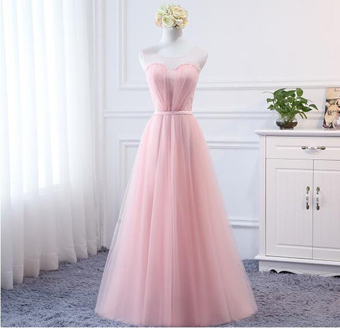 Sexy Long Bridesmaid Dresses 2018 A-Line Sleeveless Off the Shoulder