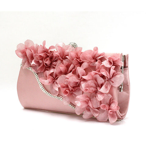 new color crystal evening day clutches flower wedding bags
