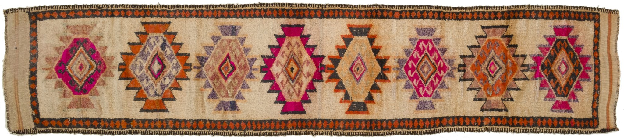Vintage Turkish Runner Rug Sholom