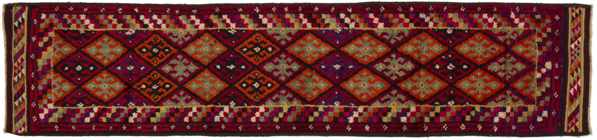 Vintage Turkish Runner Rug Keranka