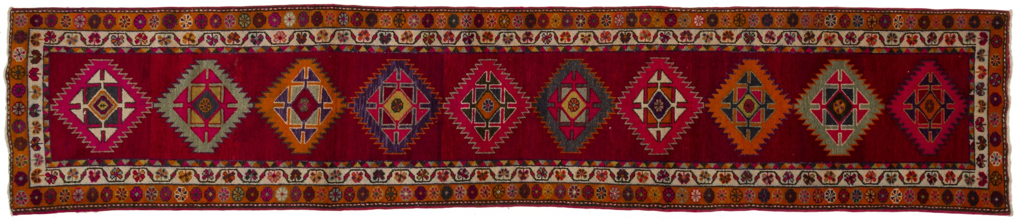 Vintage Turkish Runner Rug Amneris