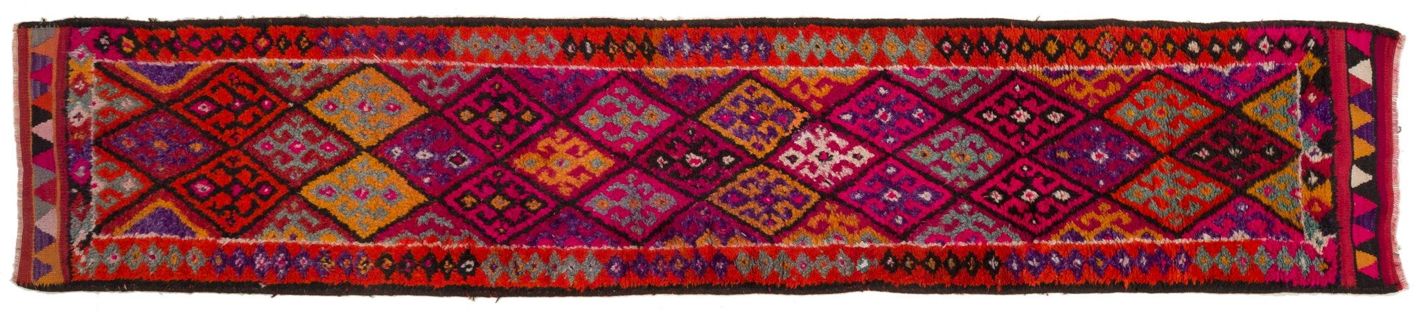 Vintage Turkish Runner Rug Anca