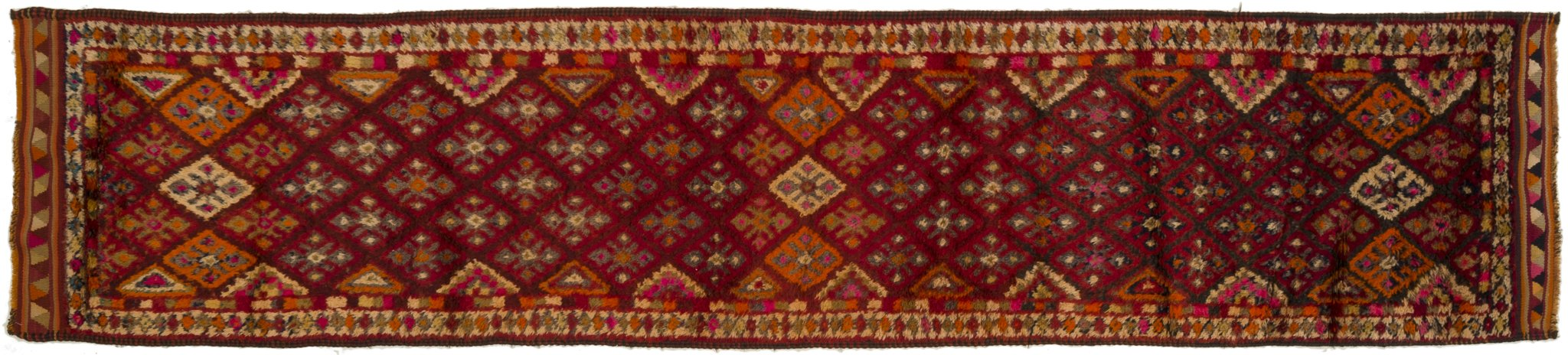 Vintage Turkish Runner Rug Gharib