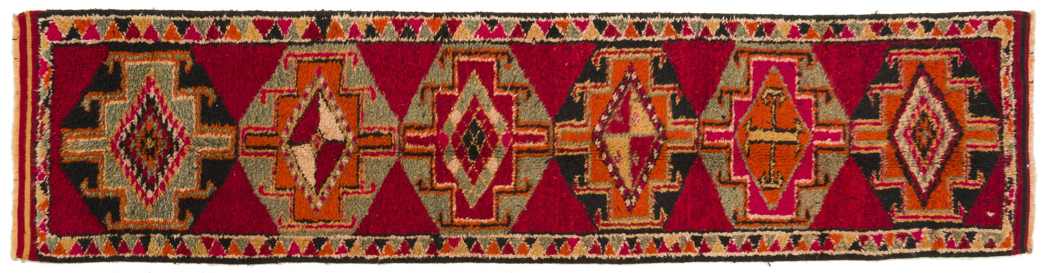 Vintage Turkish Runner Rug Lado