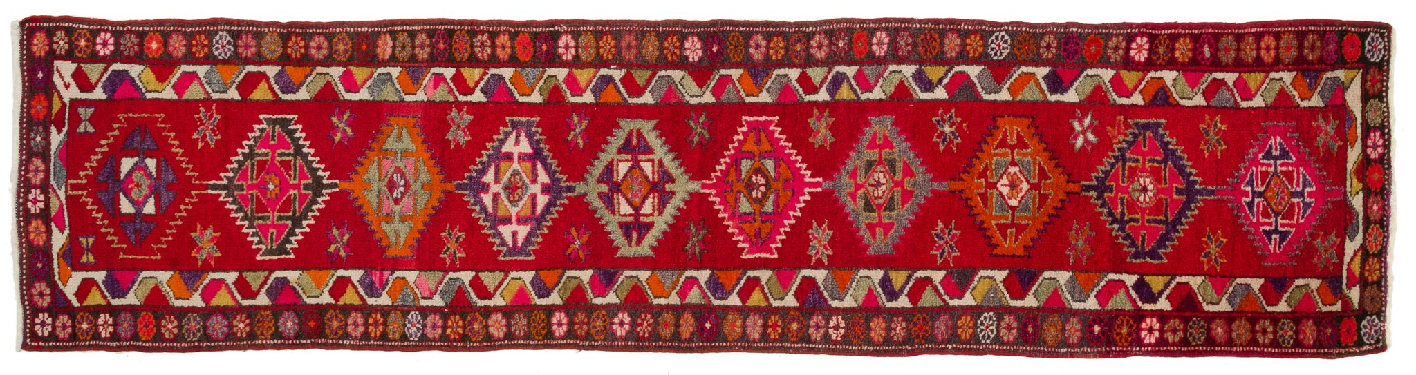 Vintage Turkish Runner Rug Anelija