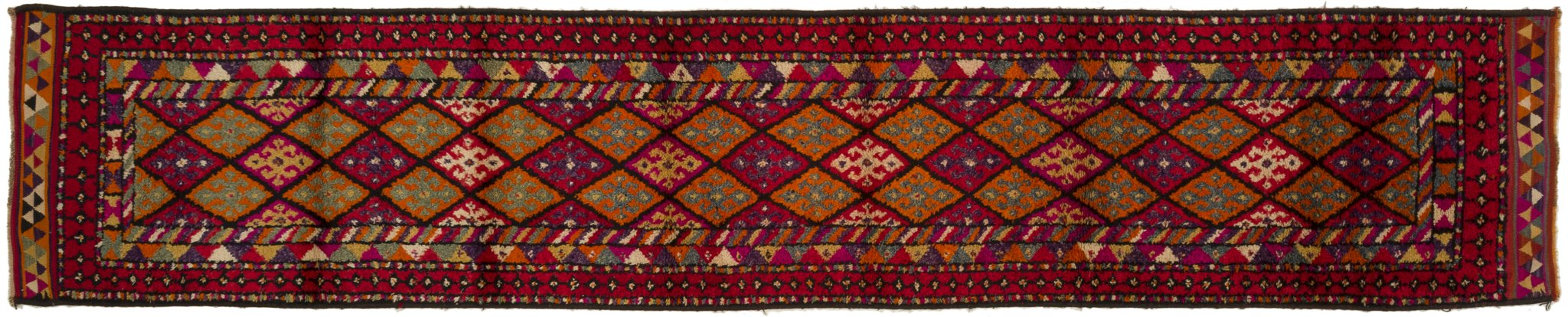 Vintage Turkish Runner Rug Gerline