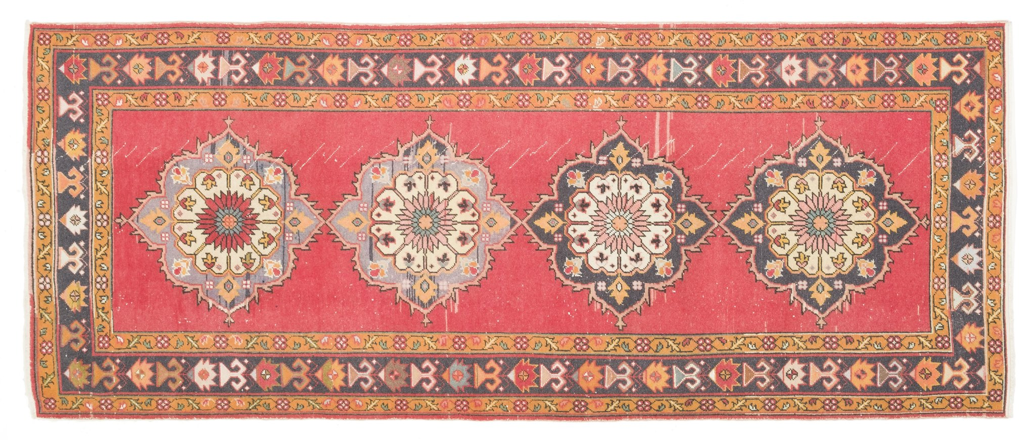 Vintage Turkish Runner Rug Fadri