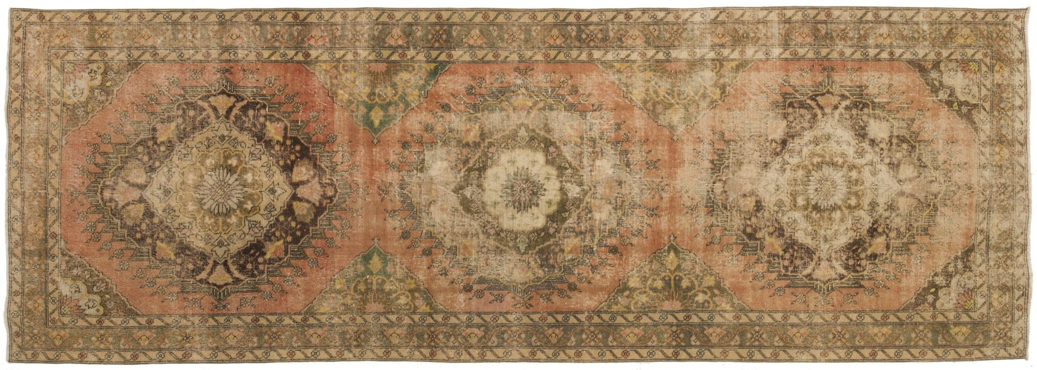 Vintage Turkish Runner Rug Cadfan