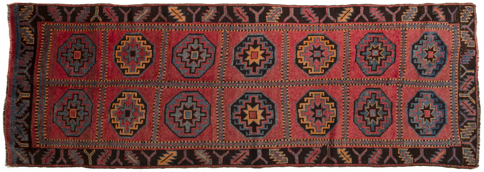Vintage Turkish Runner Rug Fadhil