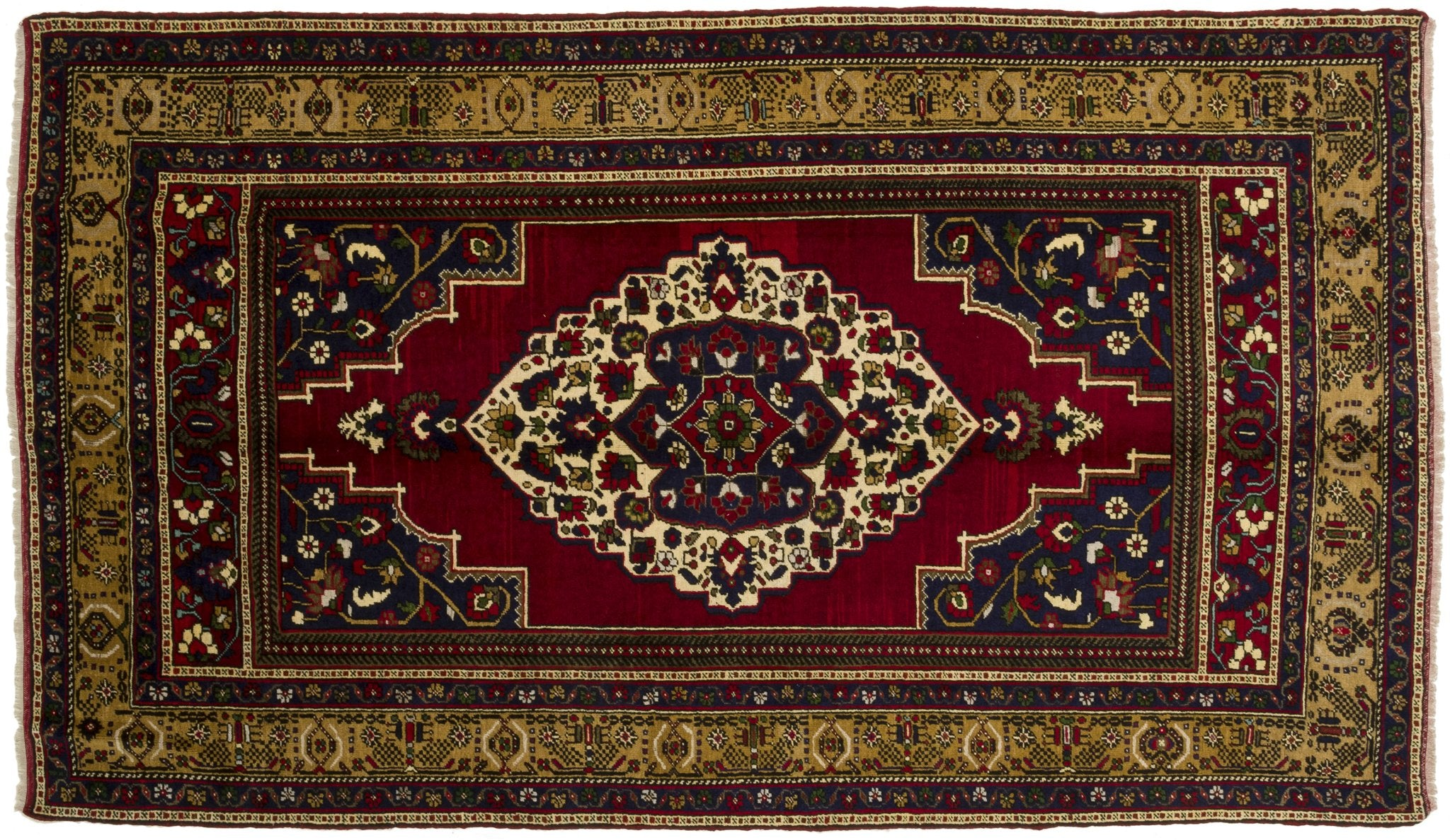 Vintage Turkish Rug Saziment