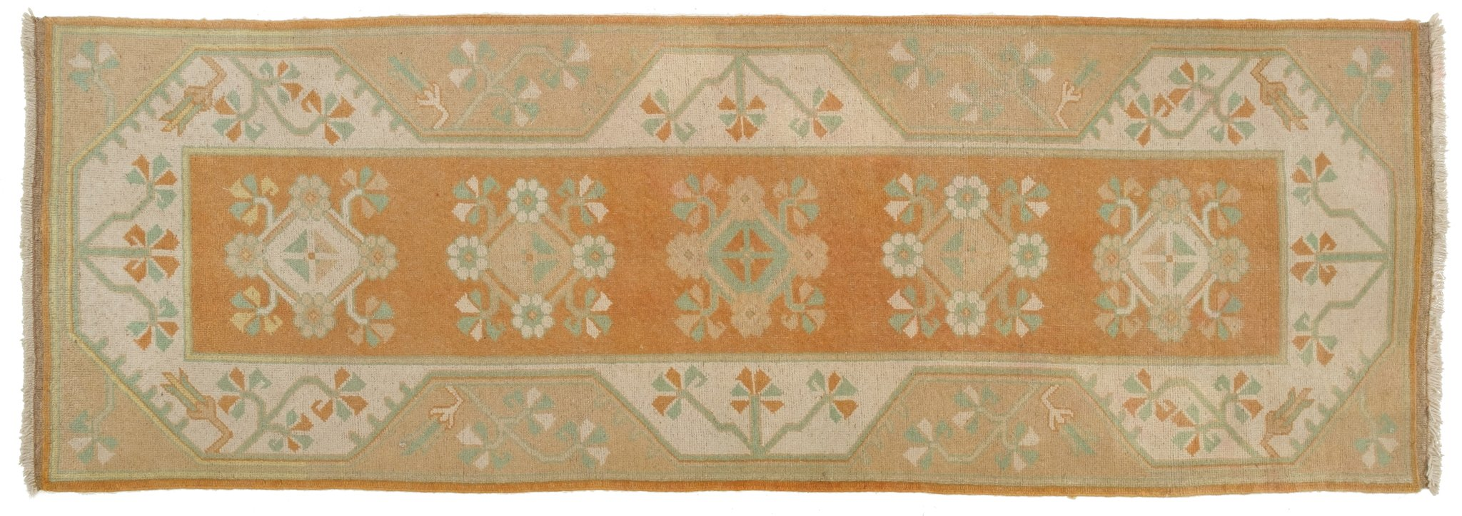 Vintage Turkish Runner Rug Perla