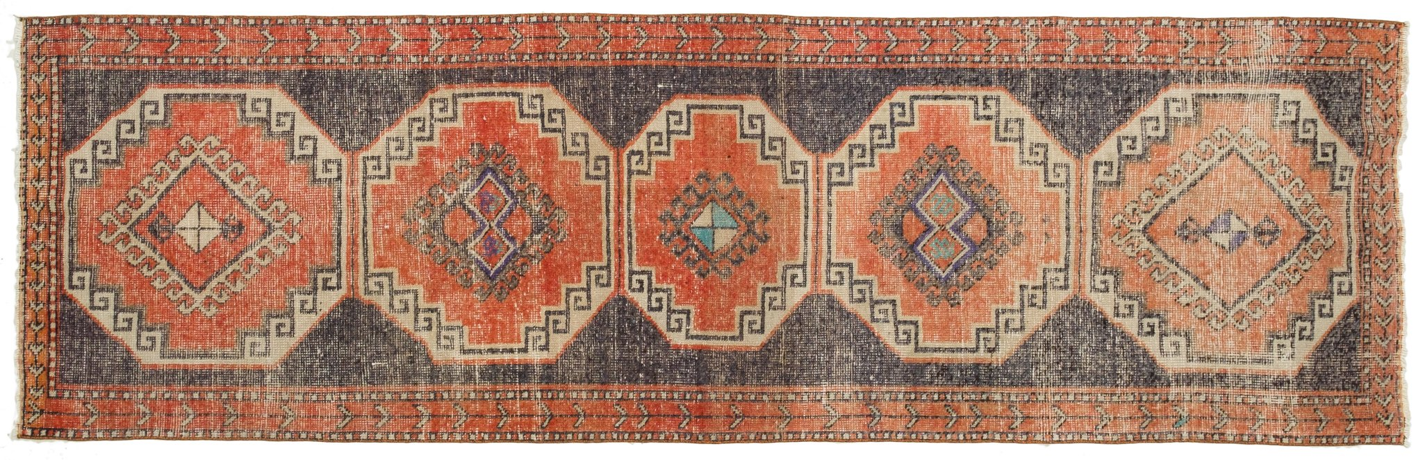 Vintage Turkish Runner Rug Vasilijs