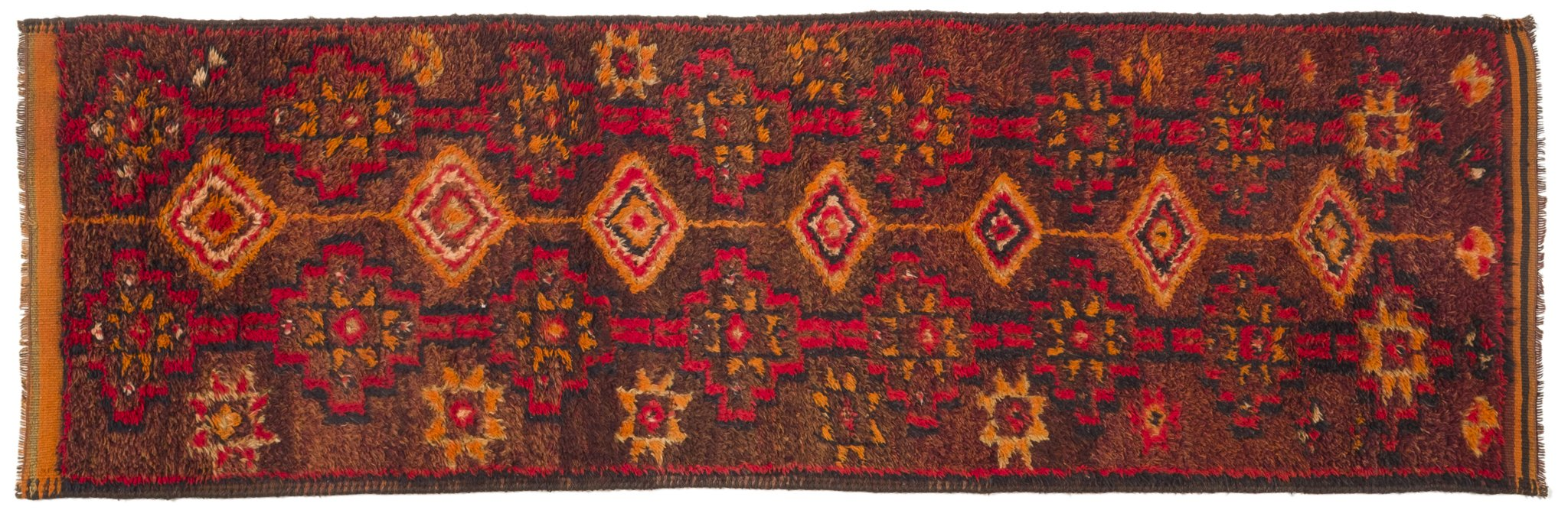 Vintage Turkish Runner Rug Burckhardt