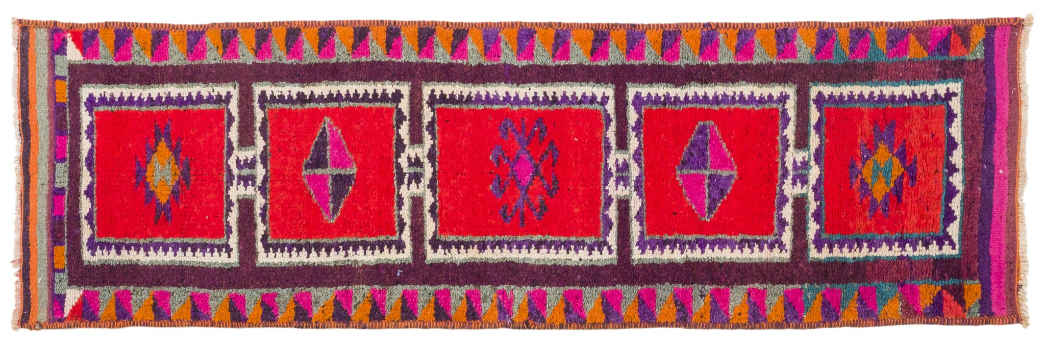 Vintage Turkish Runner Rug Rukija