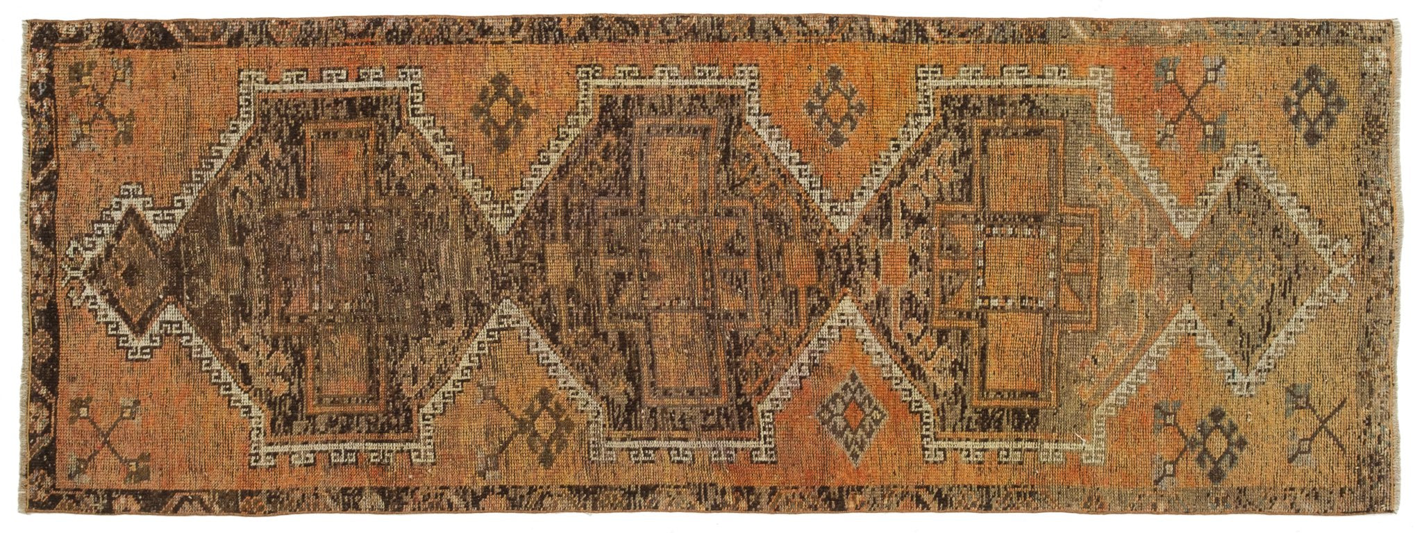 Vintage Turkish Runner Rug Huldis