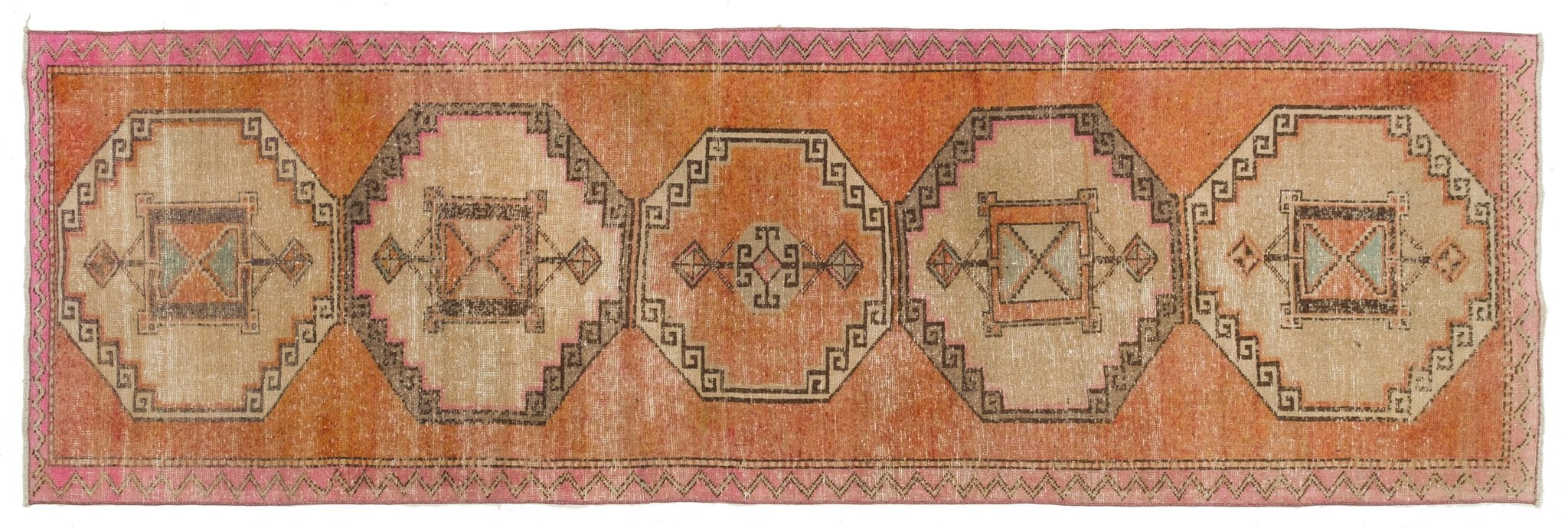 Vintage Turkish Runner Rug Eduina