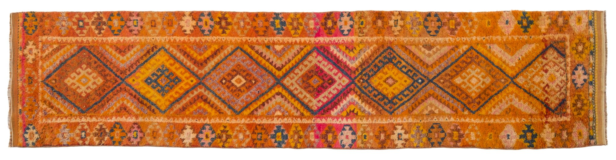 Vintage Turkish Runner Rug Midhad