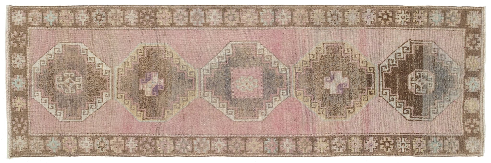 Vintage Turkish Runner Rug Anjeza