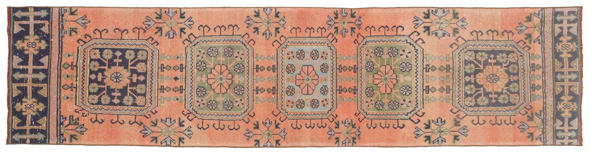 Vintage Turkish Runner Rug Shefquet