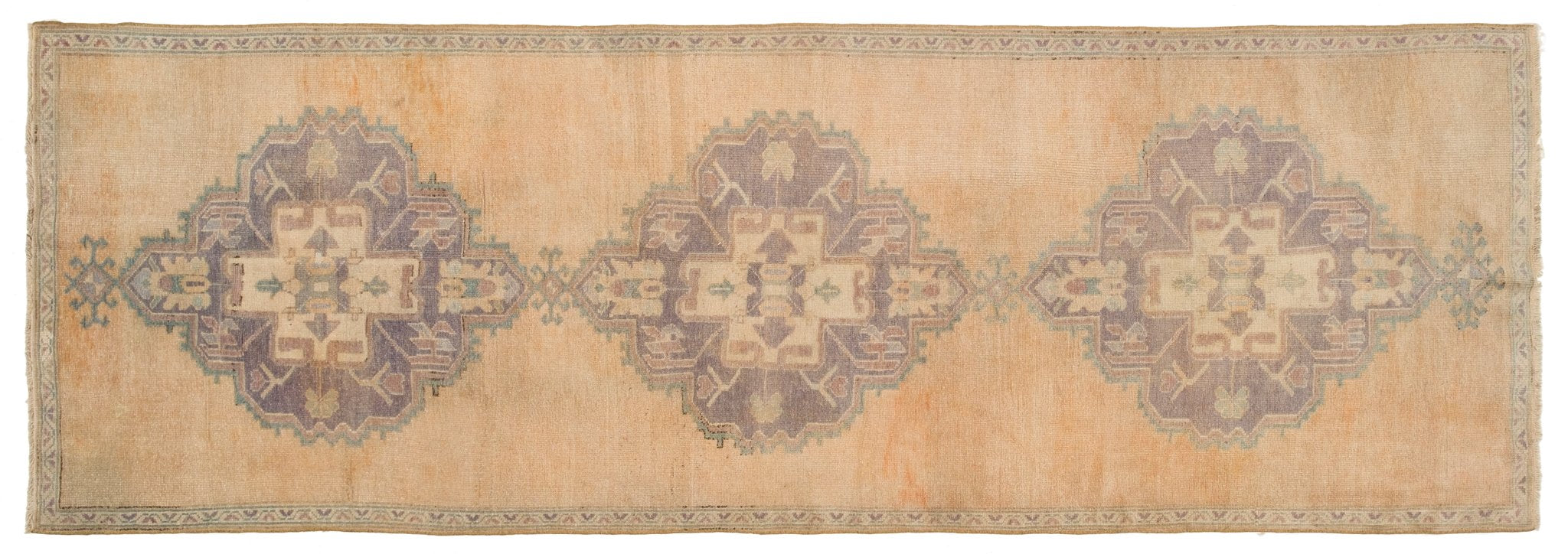Vintage Turkish Runner Rug Auro
