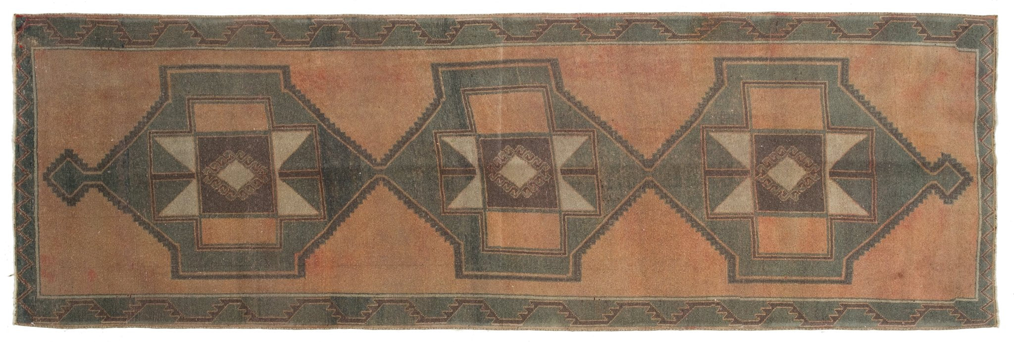 Vintage Turkish Runner Rug Spase