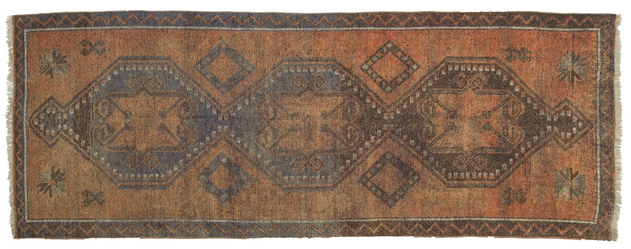 Vintage Turkish Runner Rug Wiebo